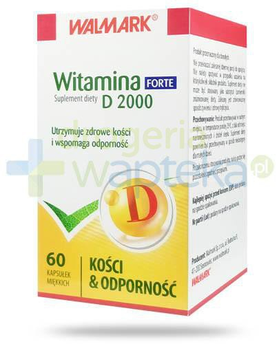 Walmark witamina D 2000 Forte kości i odporność 60 kapsułek