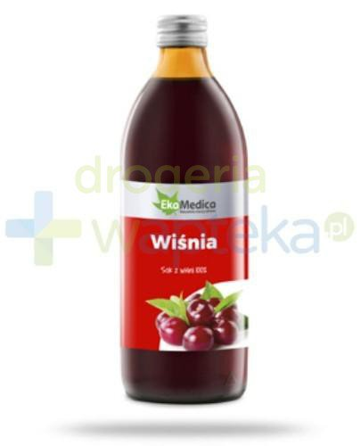 EkaMedica Wiśnia sok z owoców wiśni pasteryzowany 500 ml