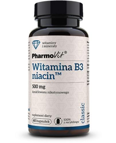 Witamina B3 niacin 60 kapsułek PharmoVit