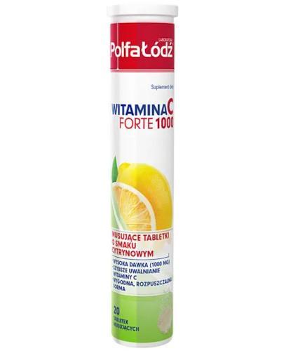 Witamina C Forte 1000 smak cytrynowy 20 tabletek musujących