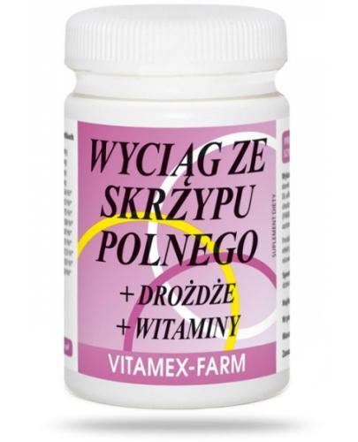 Wyciąg ze skrzypu polnego + drożdże + witaminy 100 tabletek