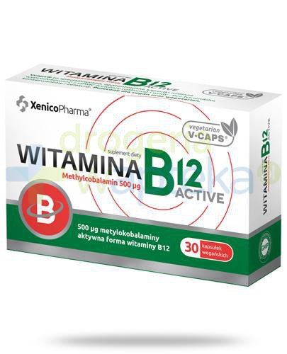 Witamina B12 Actve Methylcobalamin 500µg 30 kapsułek vege Xenico