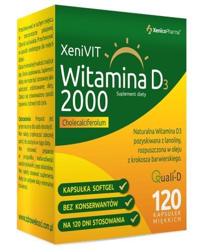 XeniVit witamina D 2000 w oleju z krokosza barwierskiego 120 kapsułek Xenico