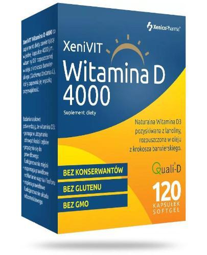 XeniVit witamina D 4000 w oleju z krokosza barwierskiego 120 kaspułek Xenico