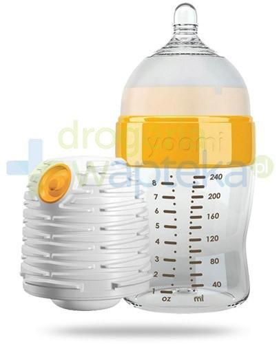 Yoomi butelka samopodgrzewająca 240 ml + smoczek o wolnym wypływie + podgrzewacz