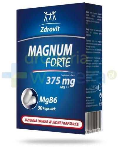 Zdrovit Magnum Forte 375 mg 30 kapsułek