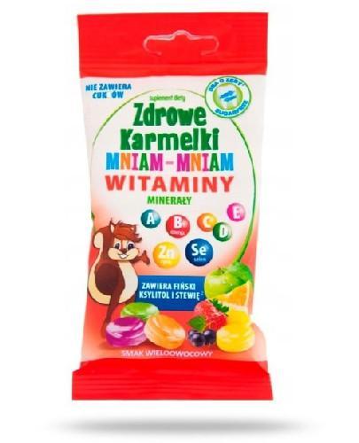 Zdrowe karmelki Mniam-Mniam witaminy i minerały cukierki o smaku wieloowocowym 25 sztuk