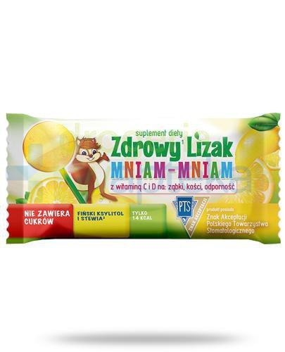 Zdrowy lizak Mniam-Mniam z witaminą C i D o smaku cytrynowym 1 sztuka