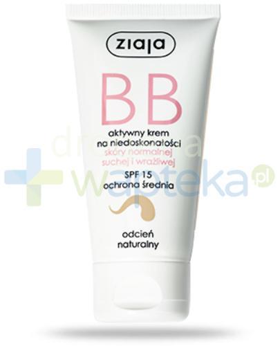 Ziaja BB aktywny krem na niedoskonałości SPF15 do skóry normalnej i wrażliwej odcień ...  whited-out