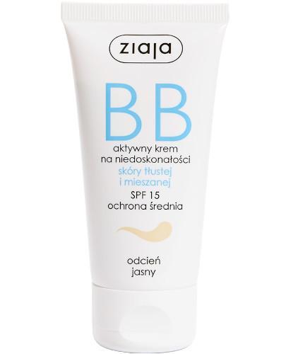 Ziaja BB aktywny krem na niedoskonałości SPF15 do skóry tłustej i mieszanej odcień ja...