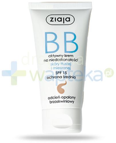 Ziaja BB aktywny krem na niedoskonałości SPF15 do skóry tłustej i mieszanej odcień op...