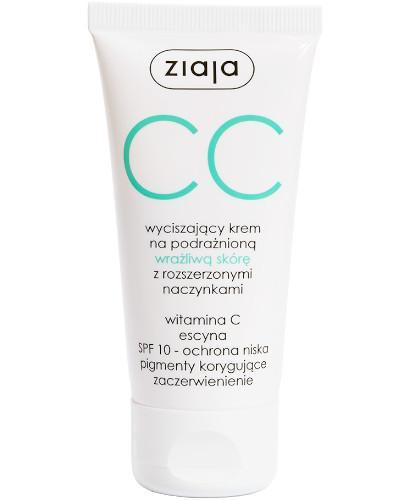 Ziaja CC krem na podrażnioną wrażliwą skórę z rozszerzonymi naczynkami SPF10 50 ml