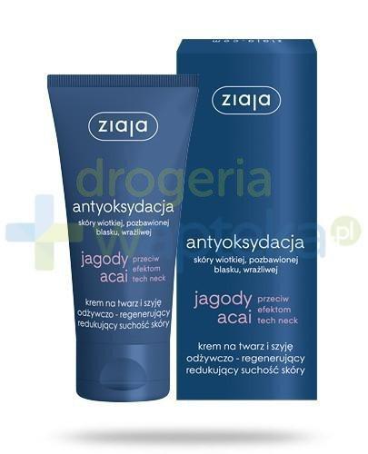 Ziaja Jagody Acai krem na twarz i szyję odżywczo regenerujący suchość skóry 50ml