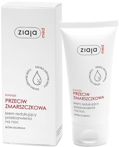 Ziaja Med Kuracja Przeciwzmarszczkowa krem redukujący przebarwienia na noc 50 ml