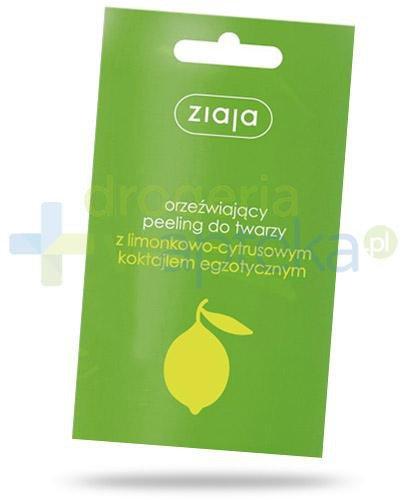 Ziaja orzeźwiający peeling do twarzy limonka cytrus 7 ml