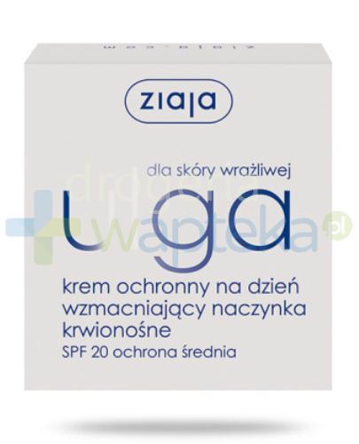 Ziaja Ulga dla skóry wrażliwej krem ochronny na dzień wzmacniający naczynka krwionośn...