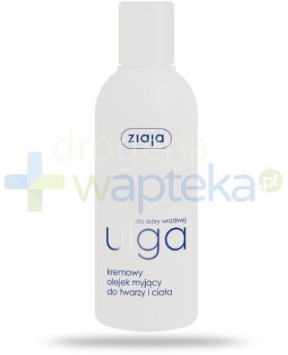 Ziaja Ulga dla skóry wrażliwej kremowy olejek myjący do twarzy i ciała 200 ml