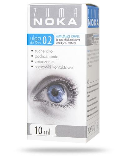 Zuma Noka Ulga dla oczu 0,2% nawilżające krople z hialuronianem 10 ml